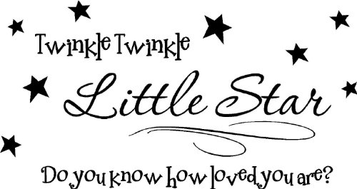 Twinkle twinkle little star do you know how loved you are cute wall quotes sayings vinyl decal art