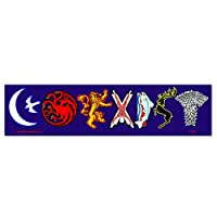 Peacemonger Coexist Game of Thrones Sigil Parody Color Sticker