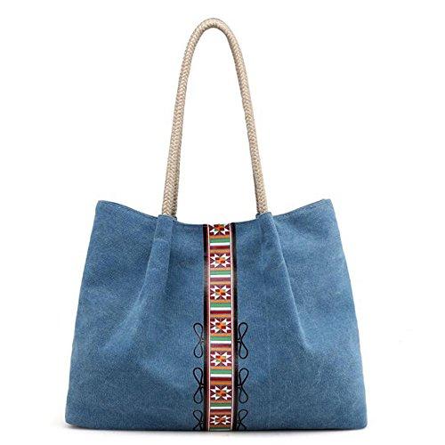 Lona Niñas Y Mujeres Bolsos color Bolsas De Casual Mifusanahorn Blue Gray Para Hombro Mensajero 8axF1gqwt