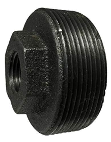 Midland 65-541 Black Iron #150 Malleable Hex BUSHING, 4