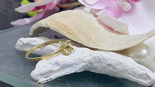 (Round delicate ring, lemon quartz ring,gold ring,gemstone ring,gold plated ring,faceted ring,prong setting ring)