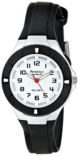 Armitron Sport Women's 25/6416BLK Easy-to-Read Dial Black Resin Strap Watch