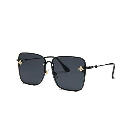 Yangjing-hl Gafas de Sol de Metal de Moda Gafas de Sol ...