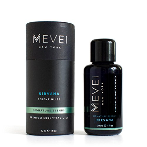 MEVEI | NIRVANA - Serene Bliss | Luxury Essential Oil Blend for Stress Relief | 100% Pure and Natural (1 fl oz/30 ml)