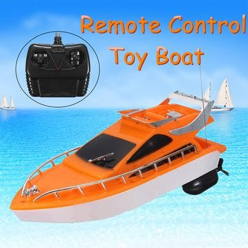 Diy Animal Control Costume (26x7.5x9cm Orange Plastic Electric Remote Control Kid Chirdren Toy Speed Boat by Completestore)