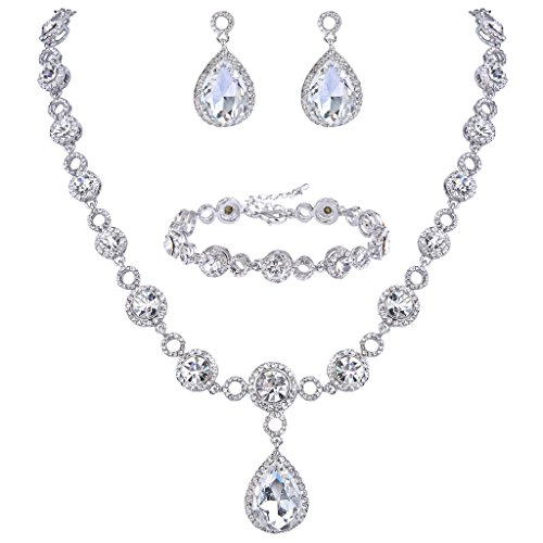 BriLove Infinity Y Necklace Bracelet Earrings