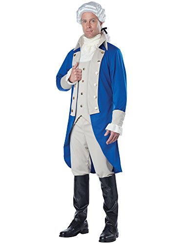 California Costumes Men's George Washington Costume, Blue/Tan -