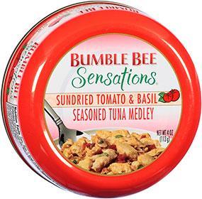 BUMBLE BEE Sensations Seasoned Tuna Medley 4 oz Bowl - Sundried Tomato & Basil