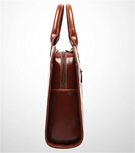 Xinmaoyuan bolsos de Hombres de Negocios multifuncionales Pu Bolso Maletín Men's Handbag,negro Brown