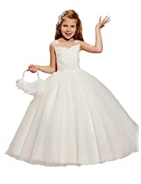 Ellenhouse Girls Tulle Flower Girls Dresses First Communion Dresses EL022