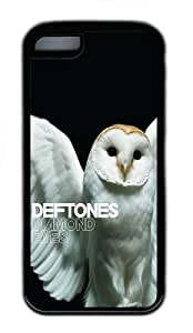 MMZ DIY PHONE CASEipod touch 5 Case and Cover - Deftones Diamond Eyes Owl TPU Case Cover For ipod touch 5 - Black