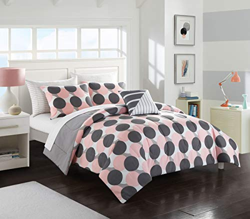 Pop Shop Layered Polka Dot Bed in a Bag Queen Pink