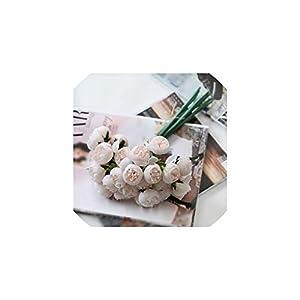 27 Heads Tea Rose Artificial Silk Flower Bouquet Home Hotel Table Decoration Fake Flower,B 80