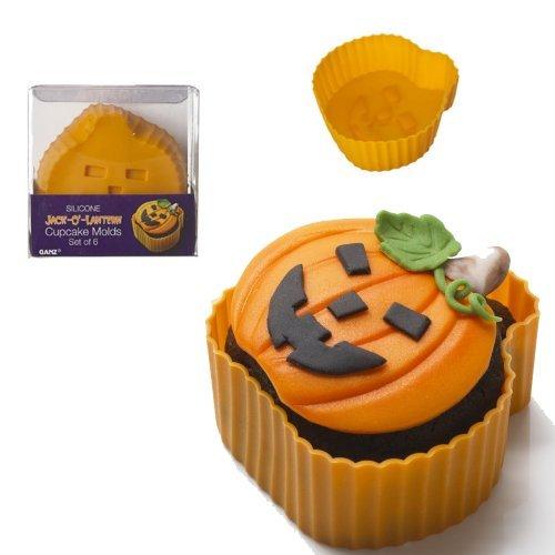 Jack-O-Lantern Silicone Cupcake Molds - Set of 6