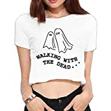 Walking The Dead A Pair Floating Ghosts Summer Crop Tops Street Tee Shirt Bare Midriff Sexy Shirts