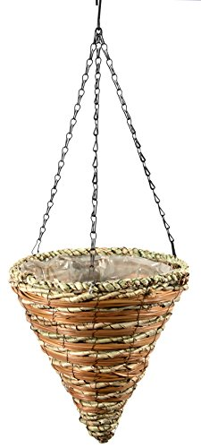 Window Wintergreen (SuperMoss (29666) Wood Woven Baskets - Cone Style, Wintergreen 12