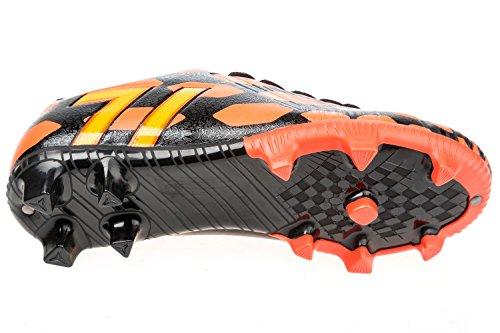 gibra - Botas de fútbol de Material Sintético para hombre Negro - Schwarz/Neonorange