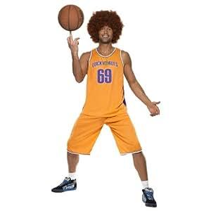 Disfraz naranja de jugador de baloncesto