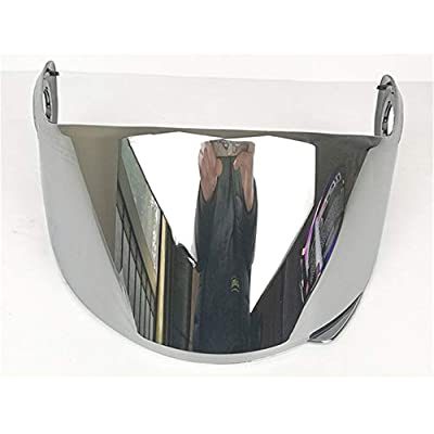 LS2 Helmets FF325 Strobe Visor Solid Modular Motorcycle Helmet Lens LS2 FF370 FF386 FF394 Replacement Face Shield (Chrome Silver): Automotive