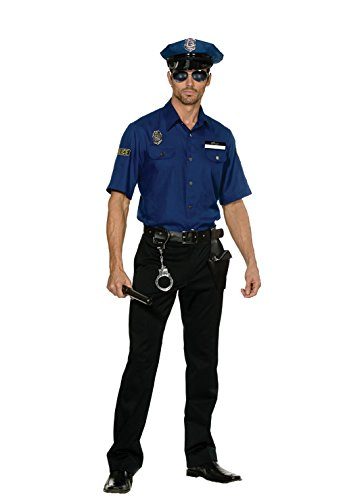 [Dreamgirl Men's You're Busted Cop Costume, Blue, X-Large] (Policeman Uniform)