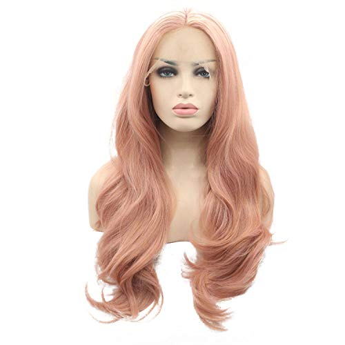Heat Resistant Fiber Glueless Natural Hairline Body Wave Hair Fully Wigs For Women Lace Front Wig,26inches,