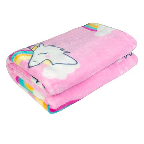 Ghome Soft Baby Blanket and Unicorn Fuzzy Blanket,Made of 300GSM Flannel, Stroller or Toddler Bed Warm Minky Blanket 30