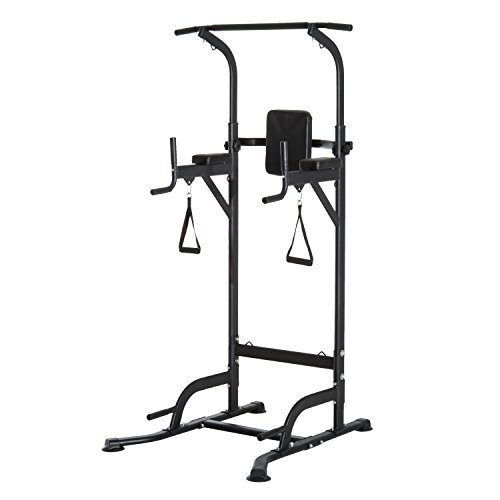 Soozier Multi Function Power Tower Chin Up Bar Stand Dip Station Full Body Workout Training