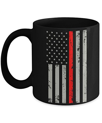 [Thin Red Line Flag Coffee Mug - Firefighter Courage Cup - As Seen On T-Shirt – Super Cool Perfect Gift For 2017 Quality Ultimate Desk Gifts] (Super Beer Girl Costume)
