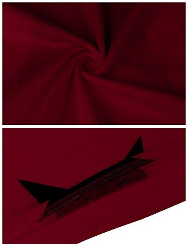 Vino Verano Para De Casual Buoydm Rojo T Tirantes Manga shirt Corta Camiseta Sin Mujer Fiesta wCPC76q