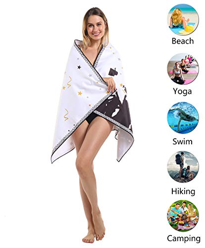 2020 Graduation Gift Her Him Microfiber Beach Towel, Sand Resistant Free Sandless, Fast Quick Dry, Compact Cool Travel…