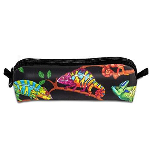 Full Case Chameleon (Chameleon Pattern 3D Full Print Pencil Case Pen Bag Adorable Design Boys)