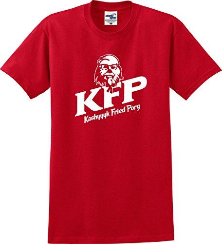 KFP Kashyyyk Fried PORG Star Wars KFC Parody T-Shirt (S-5X) (Medium, Red)