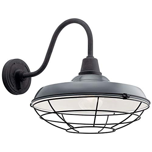 Kichler Lighting 49991GG Pier - One Light Outdoor XLarge Wall Lantern, Gloss Grey ()