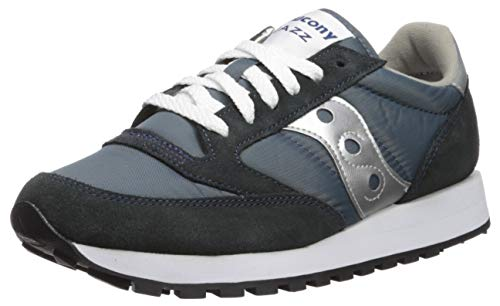 Saucony Originals Men's Jazz Sneaker,Navy/Silver,11 M