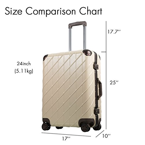 Besteamer Hardside Spinner Luggage Travel Carry-on Expandable Luggage Suit, Lightweight Spinner Trolley Suitcases (24'') by Besteamer (Image #6)