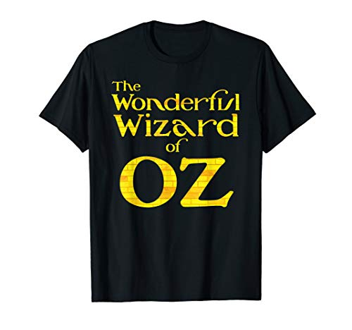 Black Wizard Of Oz (Retro Vintage Yellow Brick Road Wonderful Wizard of OZ Logo )