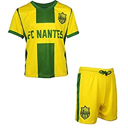 FC NANTES Maillot + Short Collection Officielle FCNA - Ligue 1 - Taille Enfant garçon