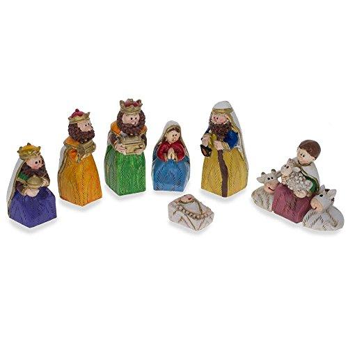 Set of 9 Hand Painted Nativity Scene Set Figurines by BestPysanky
