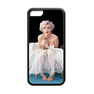 diy zhengBlack, 5C Case - Marilyn Monroe Barefoot Photo Design Durable Rubber Tpu Silicone Case Cover For Apple Ipod Touch 4 4th