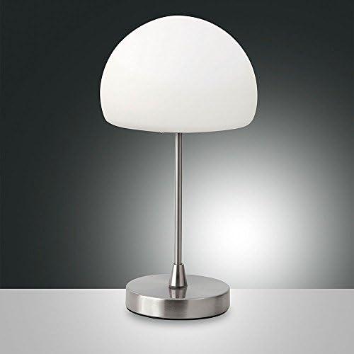 Fabas Luce 3341 30 178 Gaia Lampada Da Tavolo A Led In Vetro Con Dimmer Touch 450 Lumen Amazon It Illuminazione