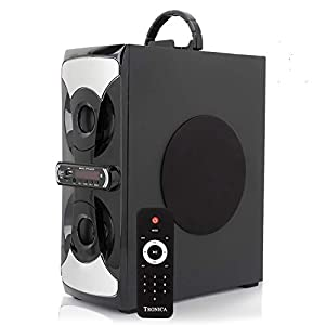 Tronica 2.1 Castle Tower Home Audio with Bluetooth/PENDRIVE/LED TV/FM/AUX Support and All Function Remote and Wired MIC