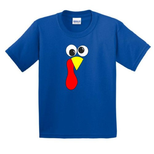 Thanksgiving Turkey Face Youth T Shirt