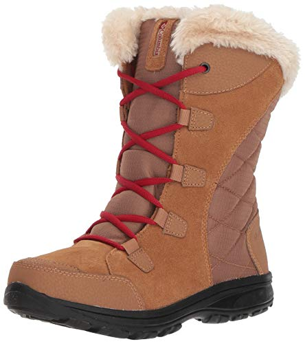 Columbia Women's ICE Maiden Ii Snow Boot, elk, red velvet, 6 Regular ()