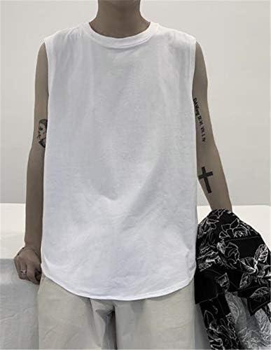 メンズ フィットネス チョッキシ ンプル 純色 柔らかい 快適 袖なし Tシャツ 涼しい タンクトップ 夏服