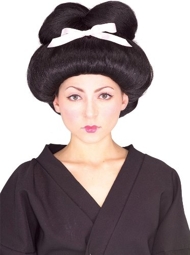 Geisha Wig Adult (Rubie's Costume Geisha Girl Wig, Black, One Size)