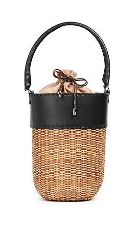 Kayu Women's Lucie Wicker Bucket, Black/Natural, One Size
