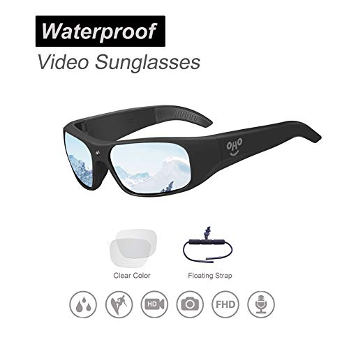 Waterproof Video Sunglasses, 1080P HD Outdoor Sports Camera with 32GB Memory & Polarized Lenses