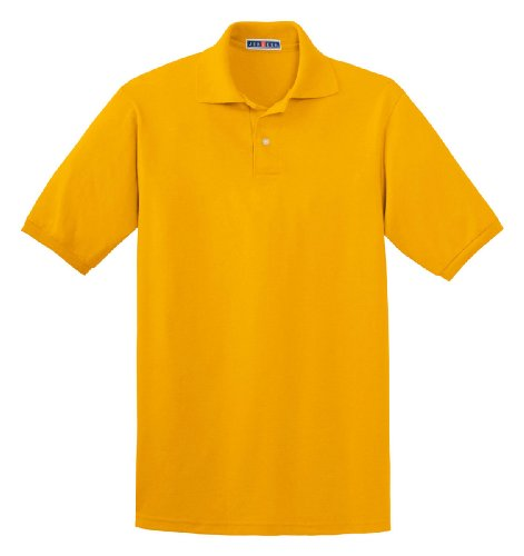 Jerzees mens 5.6 oz. 50/50 Jersey Polo with SpotShield(437)-GOLD-2XL -