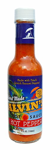 - Alvin's Red Scotch Bonnet Pepper Hot Sauce, 5 oz, Vegan