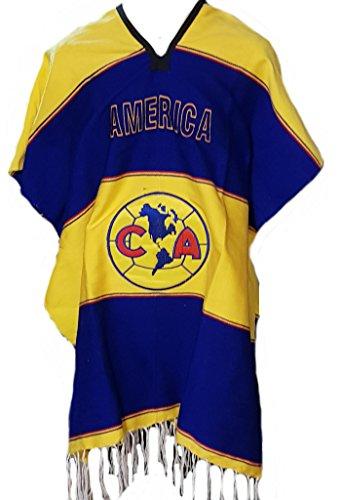 Textiles Mexicanos Mexican Soccer Teams Poncho Cobija Blanket (America)